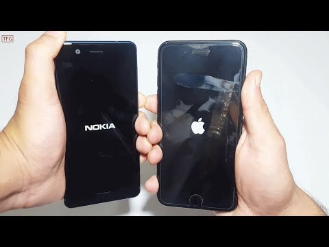 Nokia 5 Vs iPhone 7 Plus  - Speed Test Comparison (4k)