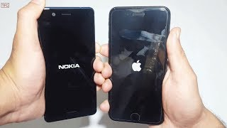 Nokia 5 Vs iPhone 7 Plus  - Speed Test Comparison (4k)
