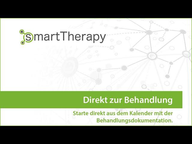 smartTherapy: Direkt zur Behandlung