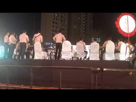Gaondevi Brass Band Bhandup||Mahapor Chashak Thane 2018||Ganaraya Ajay-Atul Song