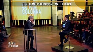 Matteo Renzi da Paolo Del Debbio a Quinta Colonna