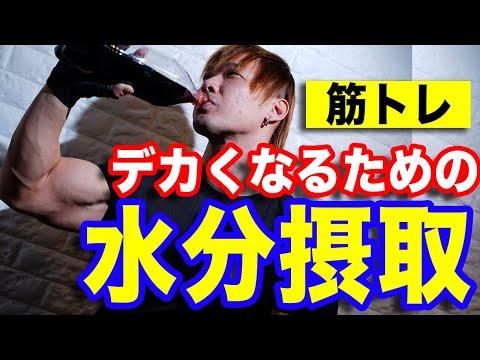 【筋トレ】デカくなるための水分摂取の仕方を解説!