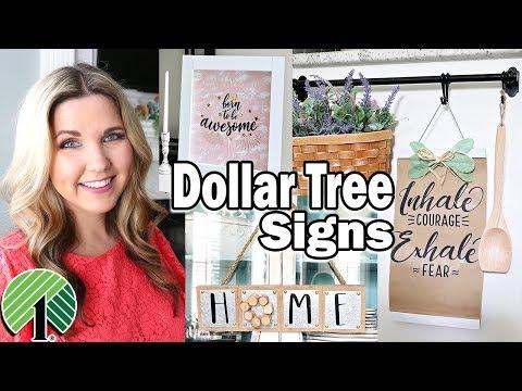 Dollar Tree DIY ⭐ Farmhouse Wall Art Signs