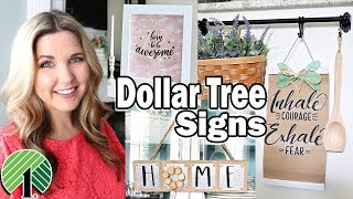 Dollar Tree DIY ⭐ Farmhouse Wall Art Signs
