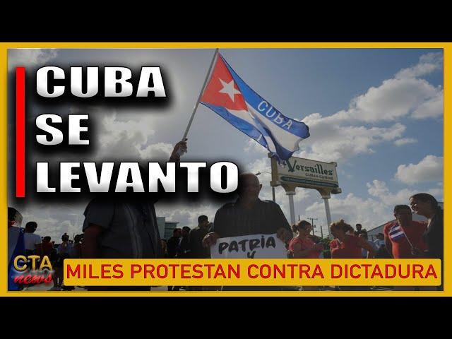 CUBA 🇨🇺: MILES PROTESTAN CONTRA DICTADURA CASTRISTA [Presidente Comunista Miguel Díaz-Canel]