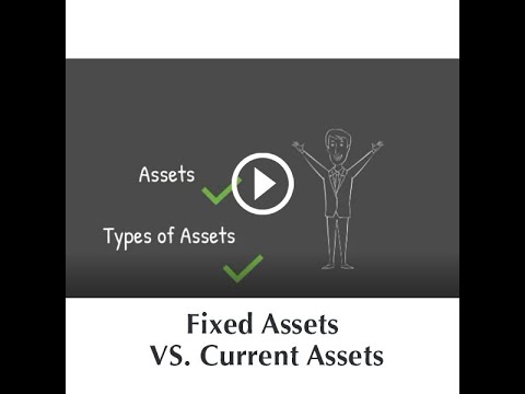 Fixed Assets VS. Current Assets