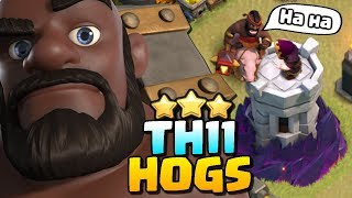 Hog Riders are the BEST at TH11 | 3 Star Attack Strategy | Clash of Clans