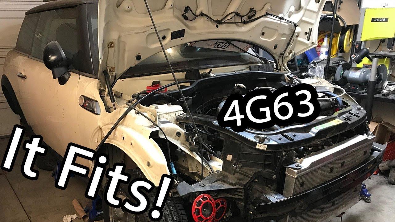 4G63 Swap Mini Cooper Motor is in!  Ep 2  YouTube