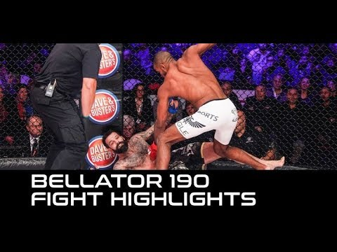 Bellator 190 Fight Highlights: Rafael Carvalho Takes Out Alessio Sakara to Tie Title Defense Record
