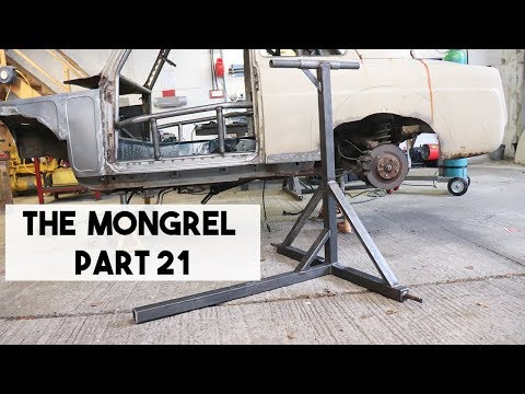 BUILDING A BASIC ROLL OVER CAR JIG, ROTISSERIE, SPIT. MX5 MIATA WITH A 1950s FORD BODY SWAP.