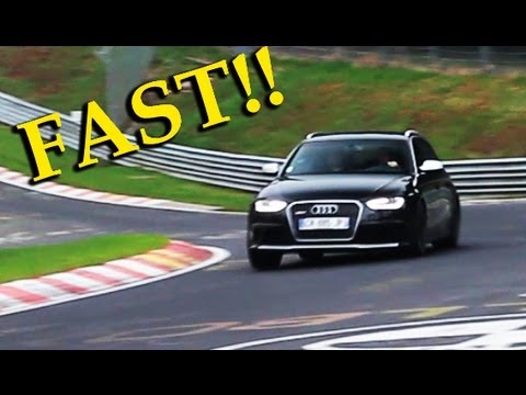 2013 Audi RS4 Avant B8 FAST driving on the Nürburgring! Slide and sound! - 1080p HD