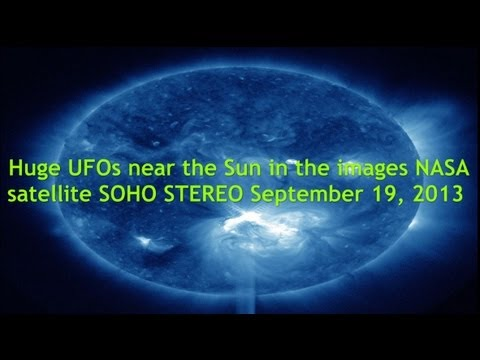 Huge Ufos Near The Sun In The Images Nasa Satellite Soho