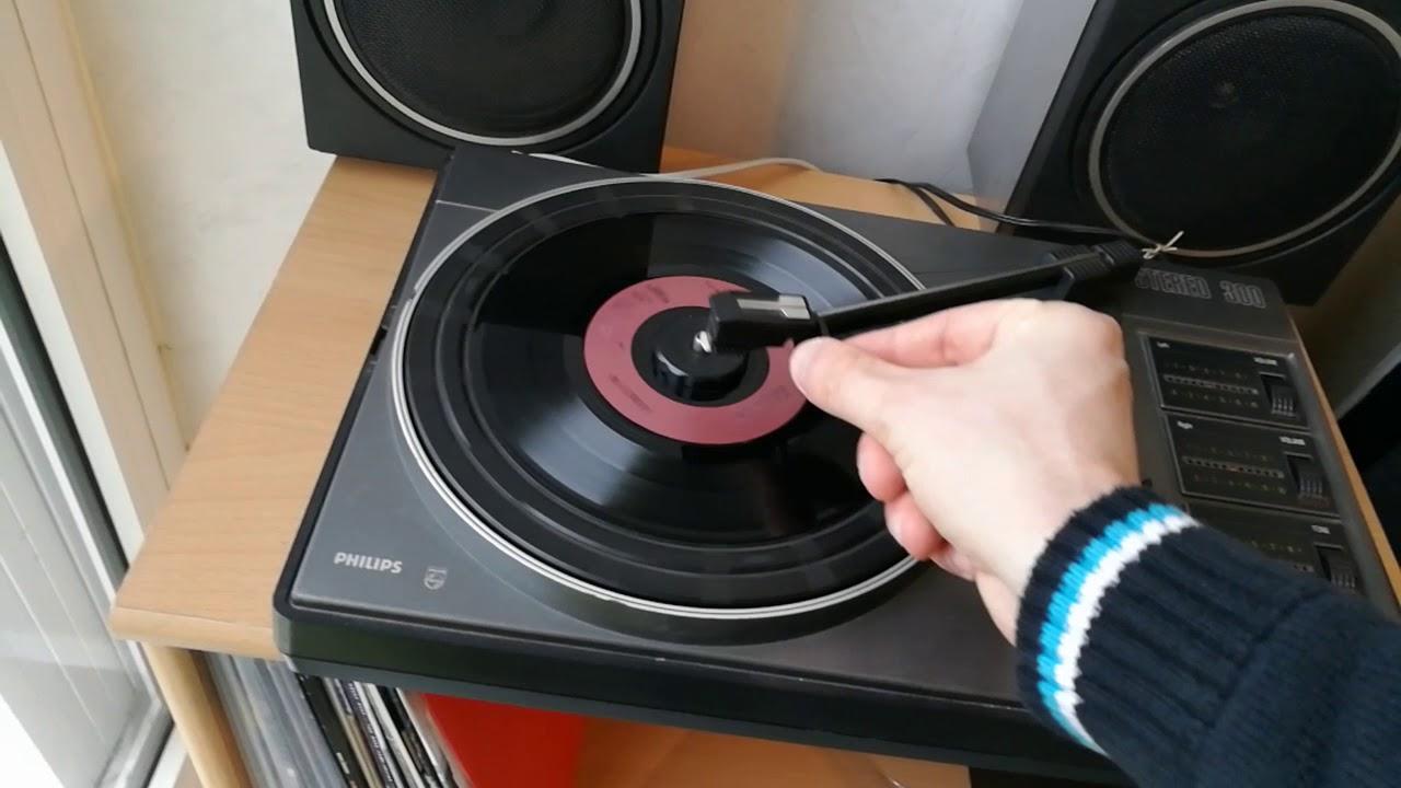 test vintage platine phillips stereo 300 vinyle