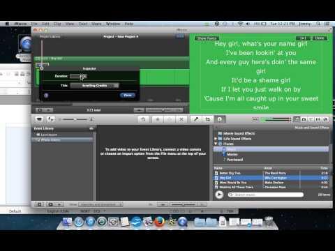 How to make Music Lyric Videos (MAC)