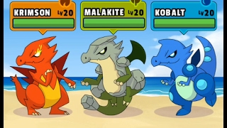 Dynamons 2: All fighting 2- THREE DRAGONS: KRIMSON, MALAKITE, KOBALT