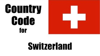 Switzerland Dialing Code - Swiss Country Code - Telephone Area Codes in Switzerland