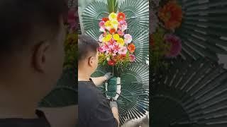 낙원웨딩홀 의정부 결혼예식장 축하3단 꽃 작업