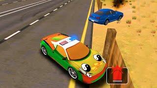 Цветные машинки 2020 | Мультик игра онлайн | Машинки для детей |Полицейская машинка, Гоночная машина