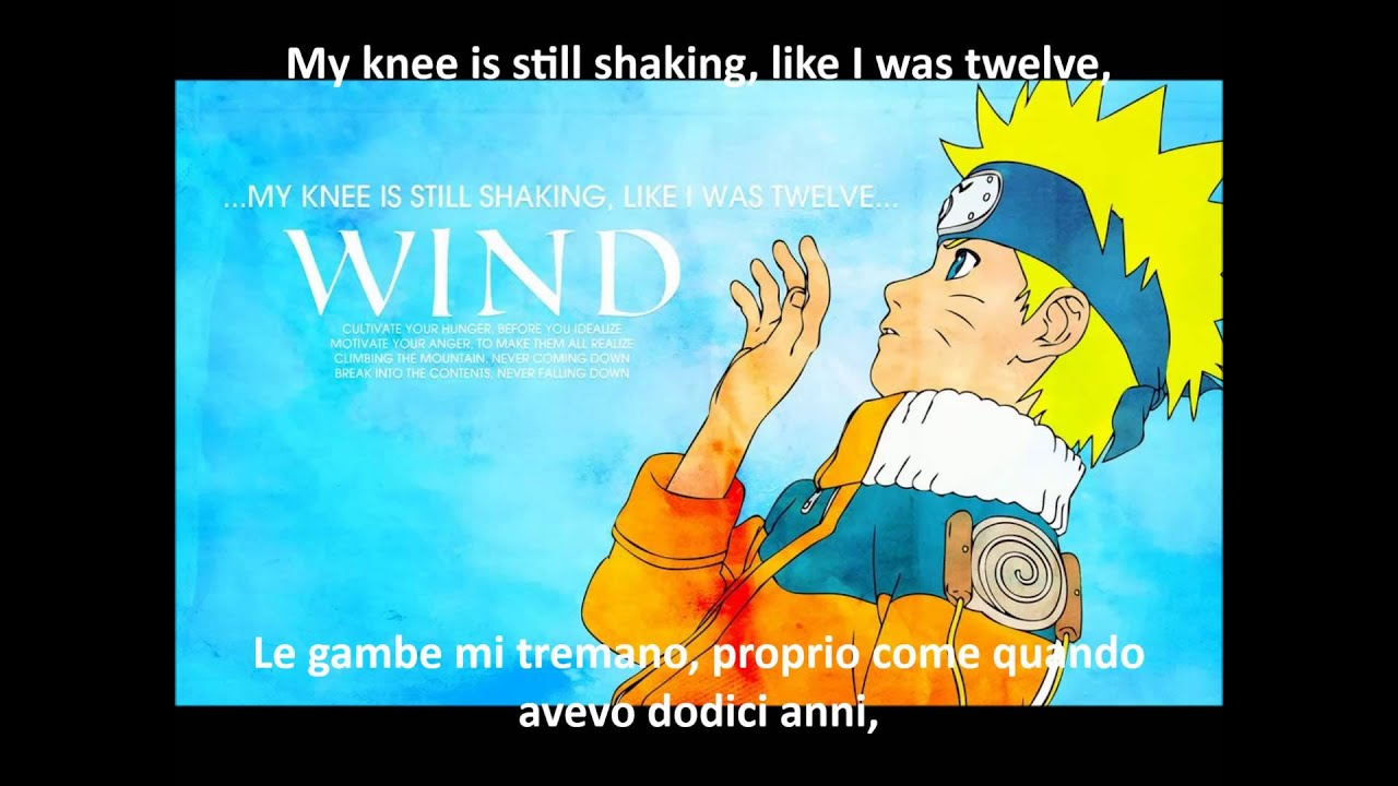 Naruto Ending 1 - Wind - Lyrics e Traduzione