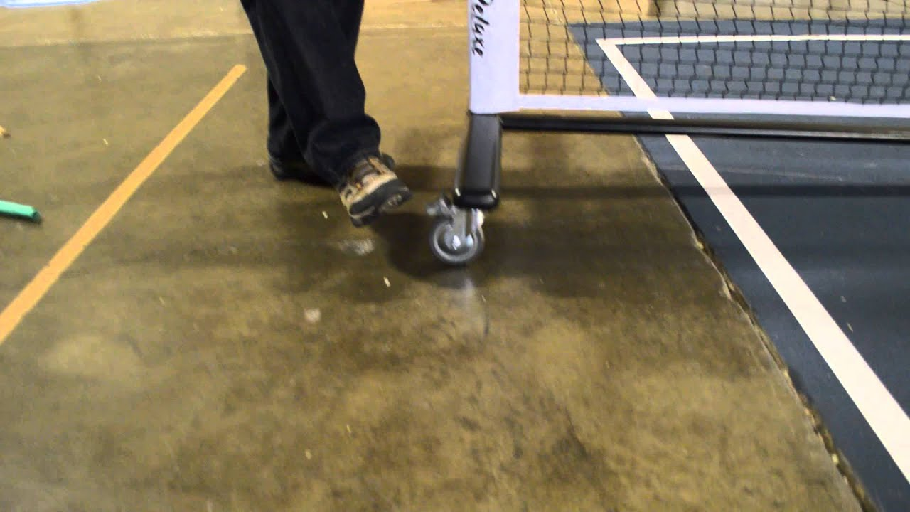 Deluxe PickleNet - a Portable Pickleball Net on Wheels!