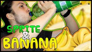 SPRITE AND BANANA CHALLENGE !! | Miszczelendż #1