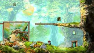 Braid Walkthrough, World 2-2 The Cloud Bridge