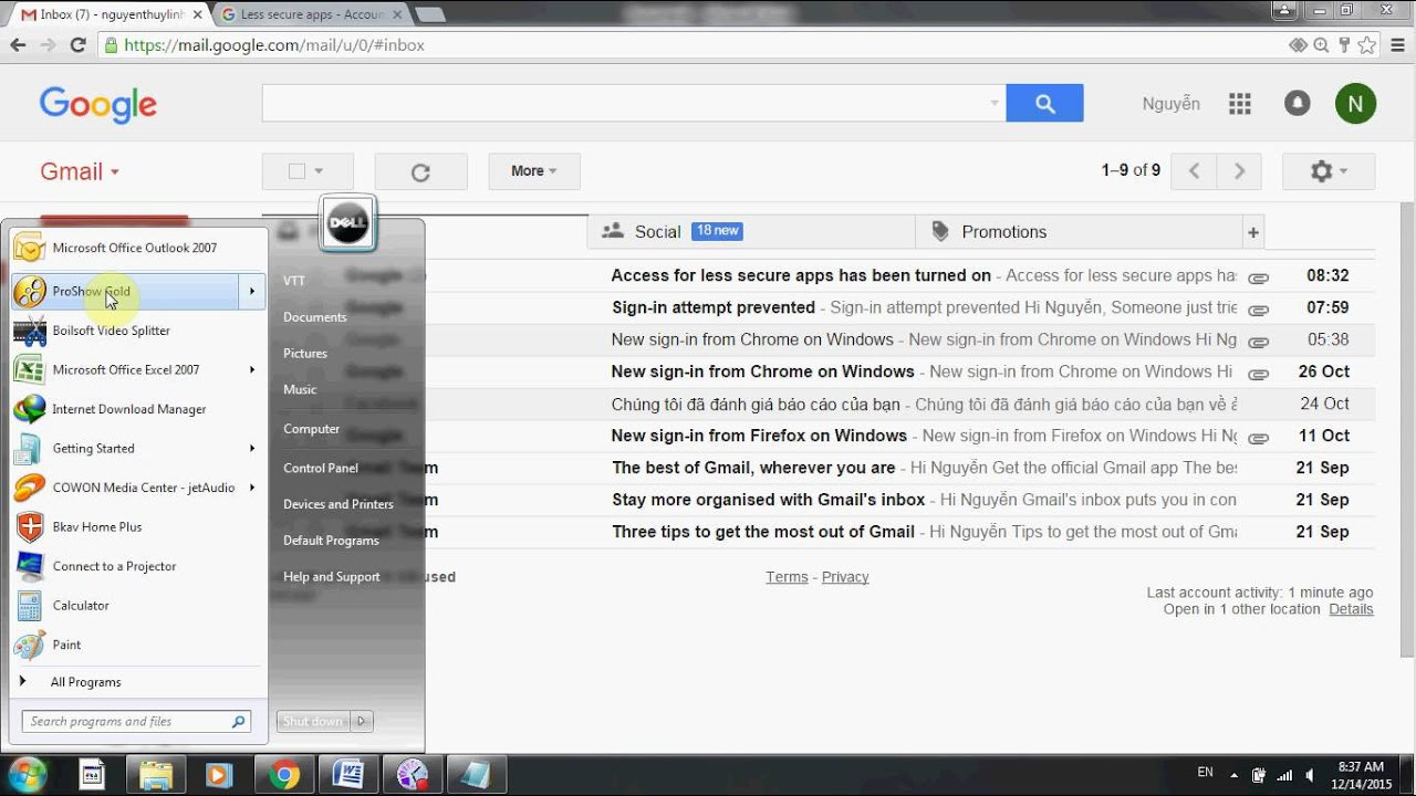 how to add gmail to outlook 2010