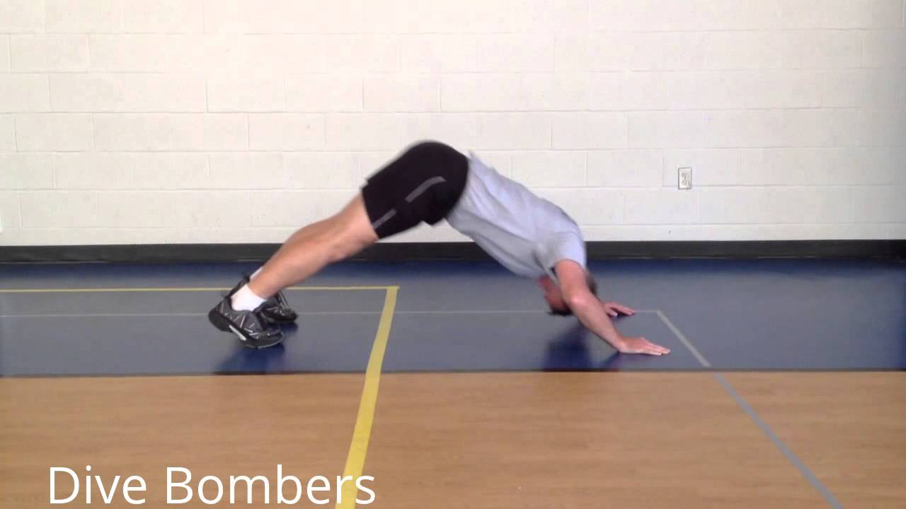 Stewsmith fitness library dive bomber pushups youtube - Dive bomber push up ...