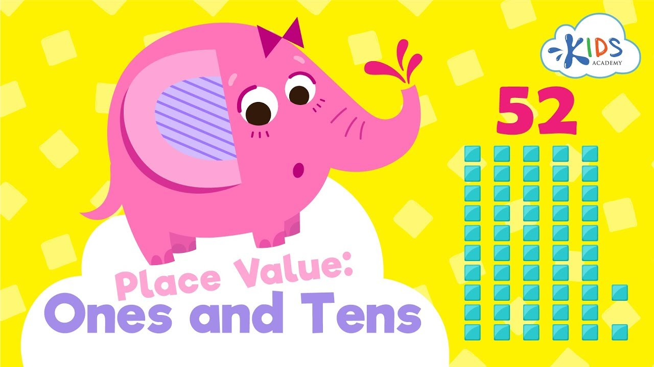 small resolution of Place Value: Ones and Tens   Math for Grade 2   Kids Academy - YouTube