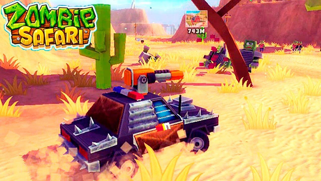 Полицейская машина ПРОТИВ ЗОМБИ zombie safari #4 ВИДЕО ДЛЯ ДЕТЕЙ про машинки VIDEOS FOR KIDS games