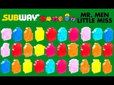 2017 Subway Mr Men Little Miss Kids Meal Toys Full Set 32 Character