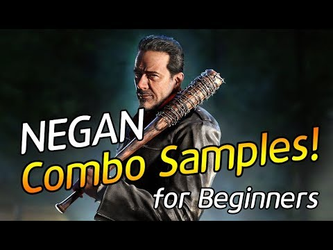 -Negan Combo Samples for Beginners!- 네간 입문용 콤보 영상! (TEKKEN 7 - Negan Combo VIdeo)