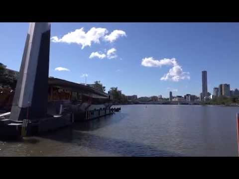 Brisbane City Cat Going from University of Queensland to North Quay in 4K