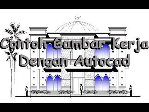 Contoh Gambar Kerja Pelaksanaan Bangunan   Mushola Al Jihad Dengan Software Autocad
