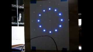 "Only the ""minute hand"" LEDs are installed. I have been working on the software and have programmed several ""test patterns"" that"