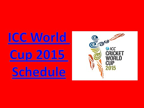 2015 ICC World Cup Schedule, Venue and Time Table