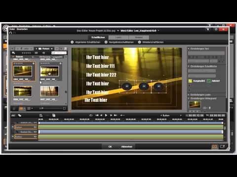 Elemente ausrichten im Disk Editor von Pinnacle Studio 16 und 17 Video 108 von 114