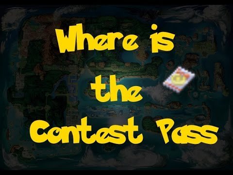Where Is The Contest Pass Pokemon Alpha Sapphire Omega