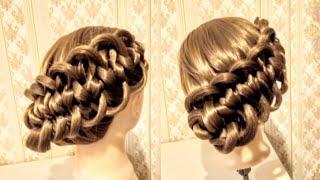 СУПЕР НЕОБЫЧНАЯ коса Прическа на выпускной Прическа в школу Вечерняя прическа