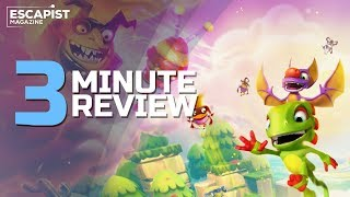 Yooka-Laylee and the Impossible Lair | Review in 3 Minutes (Video Game Video Review)