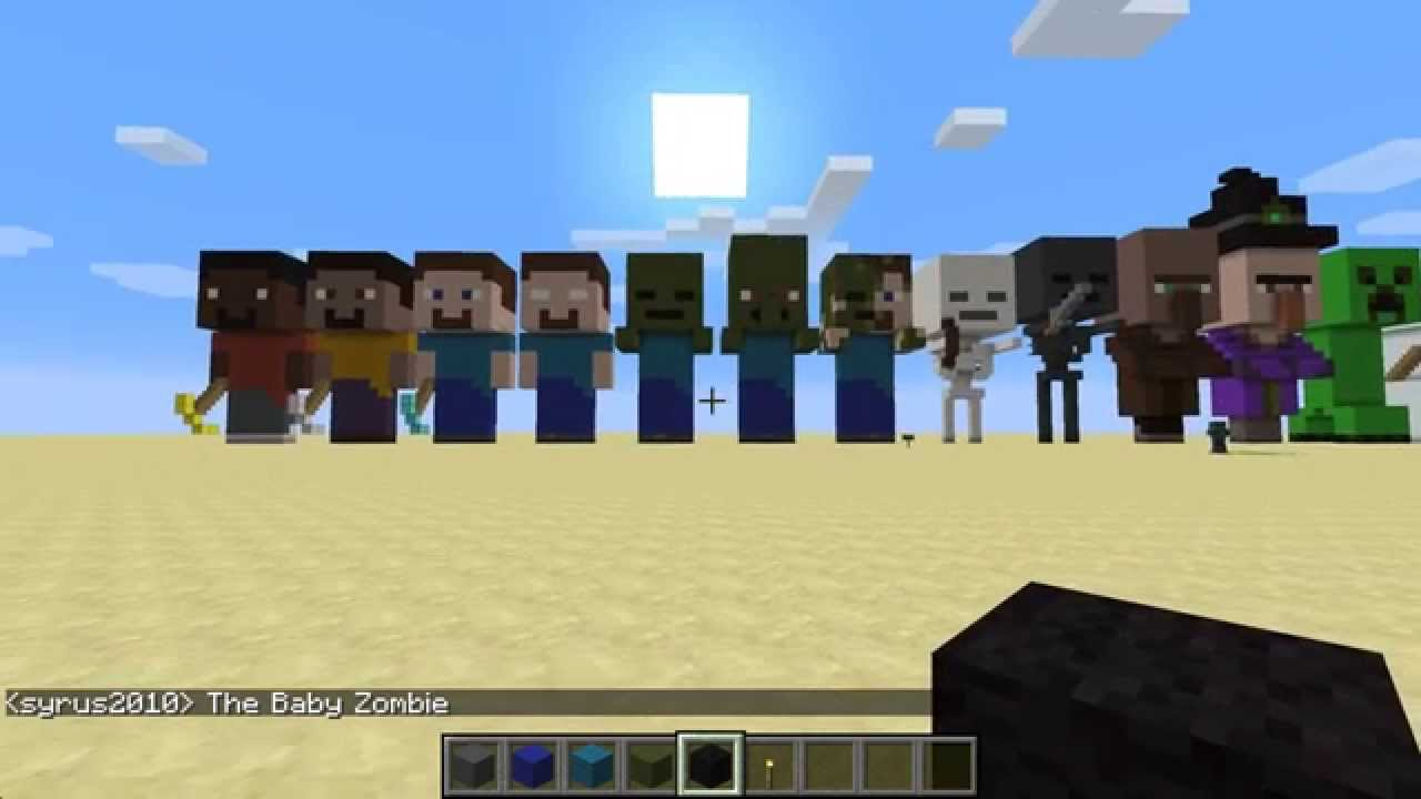 Minecraft how to build baby zombie youtube for Zombie build