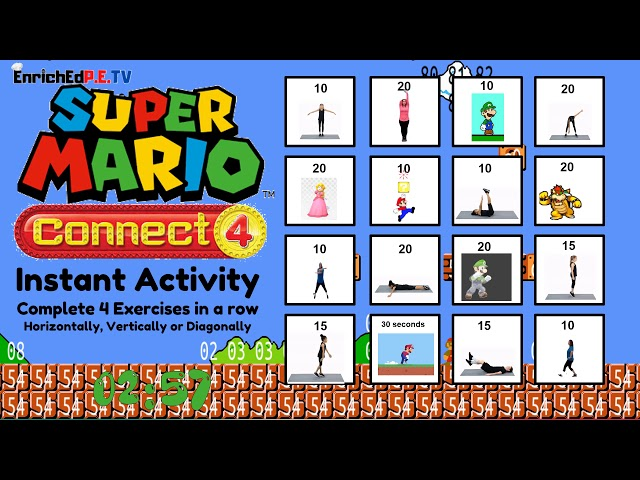 Julie Botkin: 🔴Super Mario Connect 4 🔵(ACTIVE Instant Activity/Do Now)