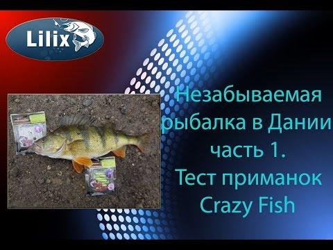 Незабываемая рыбалка в Дании часть 1. Тест приманок Crazy Fish