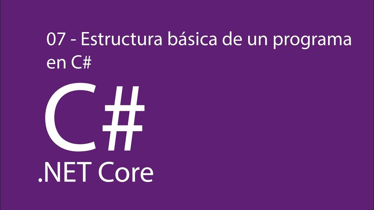 Aprende C Con Net Core En Español 07 Estructura Básica De Un Programa En C