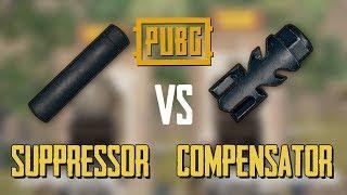 SUPPRESSOR vs COMPENSATOR PUBG MOBILE TEST