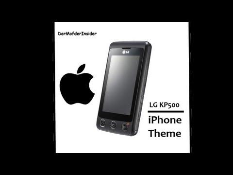LG KP500 iPhone Theme installieren (German/Deutsch)