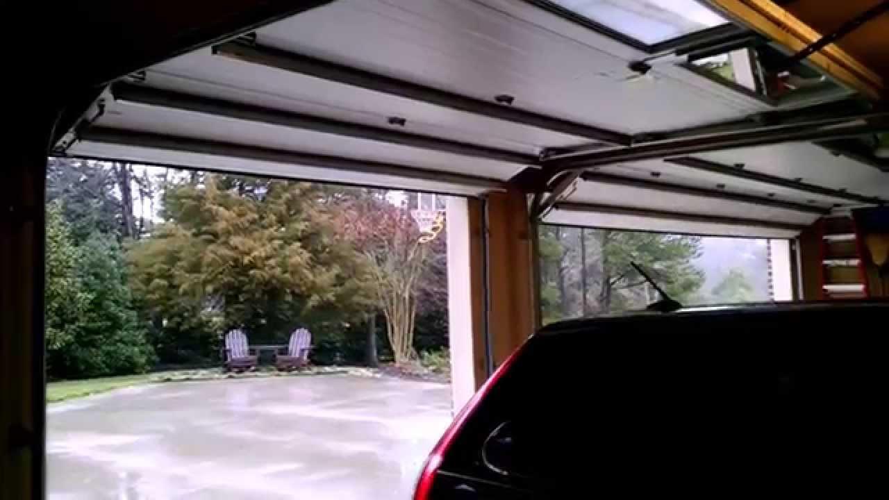 Garage Door Opening And Closing Youtube