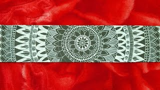 Easy self made Mandala bookmark
