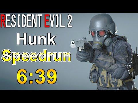 Hunk Speedrun 6 39 Biohazard Re 2 Youtube