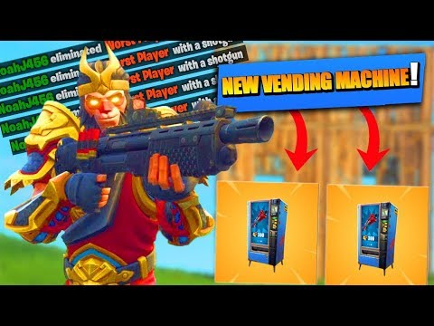 VENDING MACHINES OUT NOW!!! (Fortnite: Battle Royale)